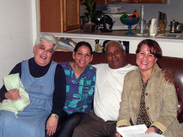 Ann Castle (Nurse), Candida Cruz (PCHM), Francisco Alvarez (GAFC Client), and Cynthia Jimenez (GAFC RSC)