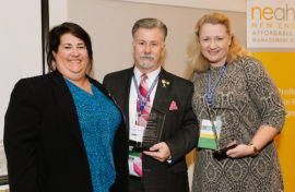 Fern Mullen (Board President at New England Affordable Housing Management Association), Scott Ployer and Kristin Pine