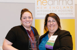 Michelle Coppi and Fern Mullen (Board President at New England Affordable Housing Management Association)