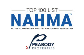 Peabody Properties Named to National Affordable Housing Management Association's Affordable 100 List for Seventh Consecutive Year
